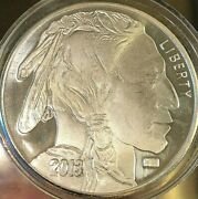 2013 And 2016 Indian Head - Buffalo .999 Silver 1 Oz. Rounds - 2 Oz. Total Hm