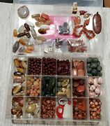 Incredible 35+ Lb Lot Of Genuine Stone And Glass Beads For Jewelry Making No Junk