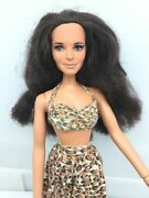 1979 Mego Jaclyn Smith Doll In Cher Laverne Print Leopard Bikini + Skirt Outfit