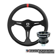 Pro Armor Top Mark Extreme Weather Steering Wheel Black Red+ Quick Disconnect