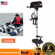 Electric Outboard Brushless Motor Fishing Boat Engine 2200w Tiller Control Usa