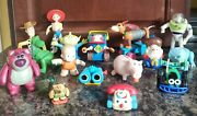 Disney Toy Story 16 Figure Lot Woody Rex Hamm Trixie Chatter Rc Pete Lenny Buzz