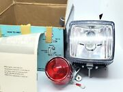 Sears Bicycle Head/ Redtail Light Solid State Generator-battery Set 12v-6 Watt