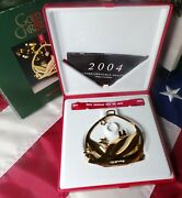 2004 Georg Jensen 24 Karat Plated Christmas Ornament Snowscape Mobile With Box