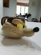 Wile E. Coyote Ceramic Applause 1989 Coffee Cup Mug Warner Brothers Looney Tunes