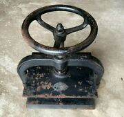 Antique Cast Iron Book Press Working Condition 12 1/2 X 10 1/4 Press Plate