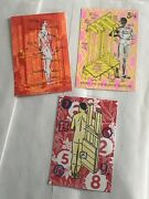 3 Original Male Erotic Silk Screen Signed Collectable Edition Post Card Artworks