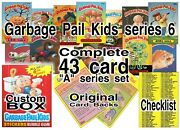 Miniature 14 Scale Orig. Garbage Pail Kids Complete Series 6 Prop Cards And Box