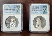 2017 Ngc Pf 70 Palau 2 Coin Set 4oz 10 Chinese Guardian Lions Male And Female
