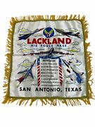 Air Force Base Lackland Silk Banner Jets Tribute To Mother And Father 19 X 20