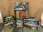 Playmobil Ghostbusters Lot Of 7 Misb Figures And Sets New Ecto-1 Firehouse Slime