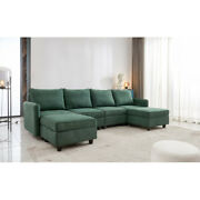 U-shaped Free Combination Module Sofa Nordic With Storage Emerald Home Office