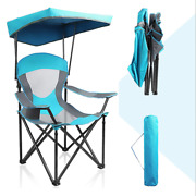 Folding Camping Chairs With Canopy Shade Portable Heavy Duty Outdoor Beach Chair