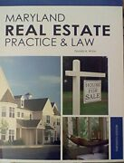 Maryland Real Estatepractice+ By Donald A. White Mint Condition