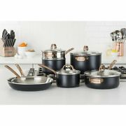Viking 4014-9991c 11 Piece 3-ply Stainless Steel Cookware Pan Set Black Copper