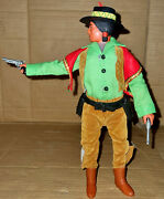 Vintage '70 Marx/gabriel Lone Ranger Stage Robbery Tonto Action Figure W/card