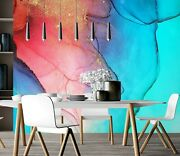3d Pink Blue Zhu1724 Wallpaper Wall Mural Removable Self-adhesive Zoe