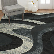 Home Dynamix Catalina Huron Abstract Area Rug Gray 7and03910x10and0392