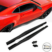 Side Skirts Extension Rocker Panels Add-on For 2010-2015 Chevy Camaro Zl1 Ss Lt