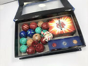 21pc Lot Authentic Bakugan Battle Brawlers Figure Balls With A Deck Of Cards Box