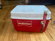 Budweiser Cooler,tap Rack, And Gaskets Rare Unique Rubbermaid Keg Attachment