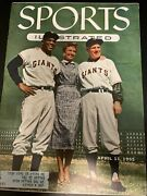 Sports Illustrated April 1955 Full Page Baseball Cards Topps Cards Willie Mays