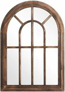 3 Colors Arched Torched Wall Hanging Mirror Rustic Wood Frame Wall Decorative Us