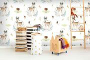 3d Fawn Flower Zhu2137 Wallpaper Wall Mural Removable Self-adhesive Zoe
