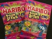 Haribo Zng Sour Bites Gummy Candy- Share Size Bag- {lot Of 2 Bags}