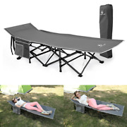 Oversized Camping Cot Folding Portable Sleeping Bed With Carry Bag Support 600lb