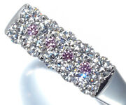 Pink And Clear Diamond Ring 1.017ct Pt900 Platinum