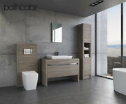 Vanity Washstand Unit 1200mm Driftwood With Tall Units - Bathcabz