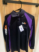 Fedex Office - Stan Herman Polo Shirt Long Sleeve Size Small Free Shipping