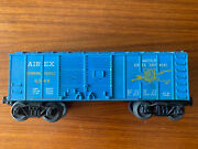 Lionel 6044 Post-war Airex Spinning Tackle Blue Boxcar Metal Wheels