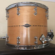 Craviotto Drums 2011 Signed 12 X 15 Solid Maple Baritone Snare Drum W/ Brackets