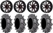 Fuel Runner 18 Wheels Red 35 Bkt At 171 Tires Polaris Rzr Turbo S / Rs1