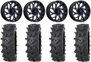 Fuel Runner 20 Wheels Blue 35 Outback Maxand039d Tires Polaris Rzr Turbo S / Rs1