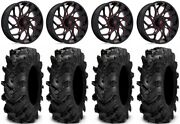 Fuel Runner 18 Wheels Red 34 Cryptid Tires Polaris Rzr Turbo S / Rs1