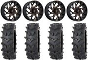 Fuel Runner 20 Wheels Orange 35 Outback Maxand039d Tires Polaris Rzr Turbo S / Rs1
