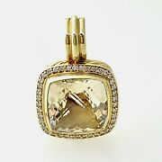 David Yurman Albion Pendant With Champagne Citrine And Diamonds 14mm In 18k Gold