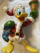 Jim Shore Disney Donald Duck Ringing In The Holiday 14 Large New In Box 4046024