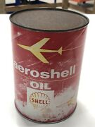 Unopened Vintage Can Of Aeroshell High Viscosity Index Straight Mineral Oil