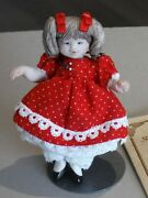 Vintage Artist Made Porcelain Dollhouse Doll By Suzanne Marks 1982 Girl P1157