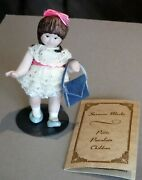 Vintage Artist Made Porcelain Dollhouse Doll By Suzanne Marks 1982 Girl P1156