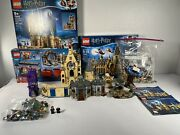 Harry Potter Lego Bundle Hogwarts Castle Train Knight Bus Whomping Willow Read