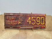 1940's Fort Bragg North Carolina Us Army Base License Plate Topper Wwii Military