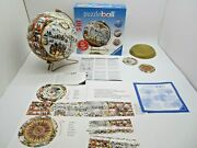 Rare 3d Puzzleball-antique World Map-complete Ravensburger Andcopy 2008 540 Pieces