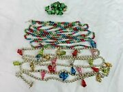 Vintage Mercury Glass Christmas Garland Beads And Bells 6 Ft And 9 Ft