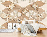 3d Wood Flower Zhu2666 Wallpaper Wall Mural Removable Self-adhesive Zoe