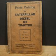 Vintage 1943 Parts Catalog For Caterpillar Diesel D4 Tractor 7j5104 To 7j9999